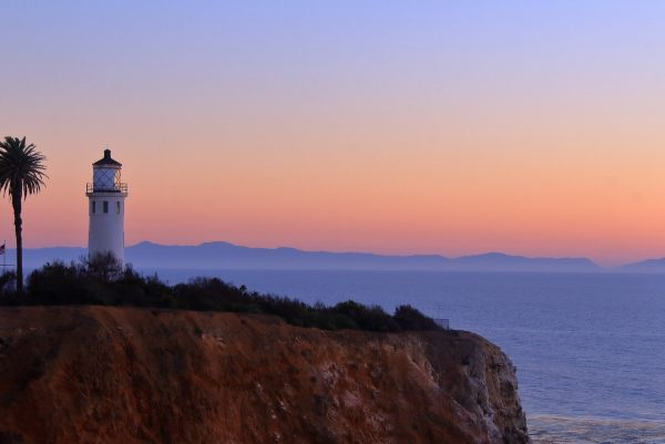 Palos Verdes Estates Lighthouse at sunset